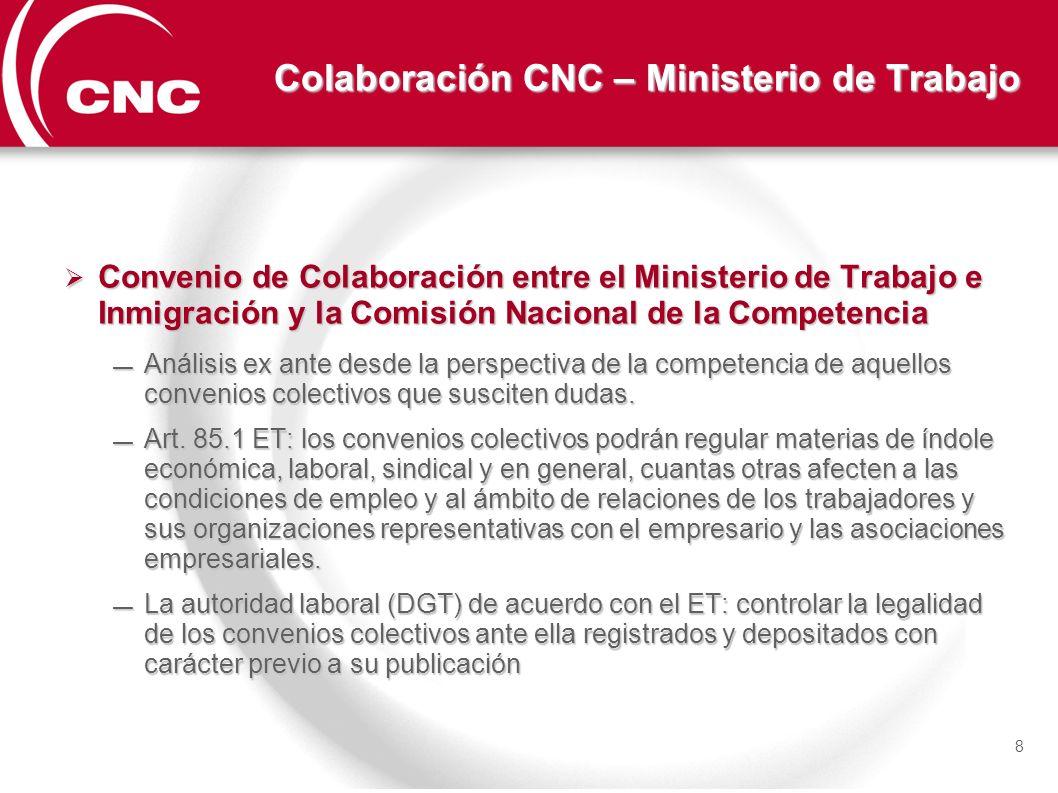 Colaboración CNC – Ministerio de Trabajo