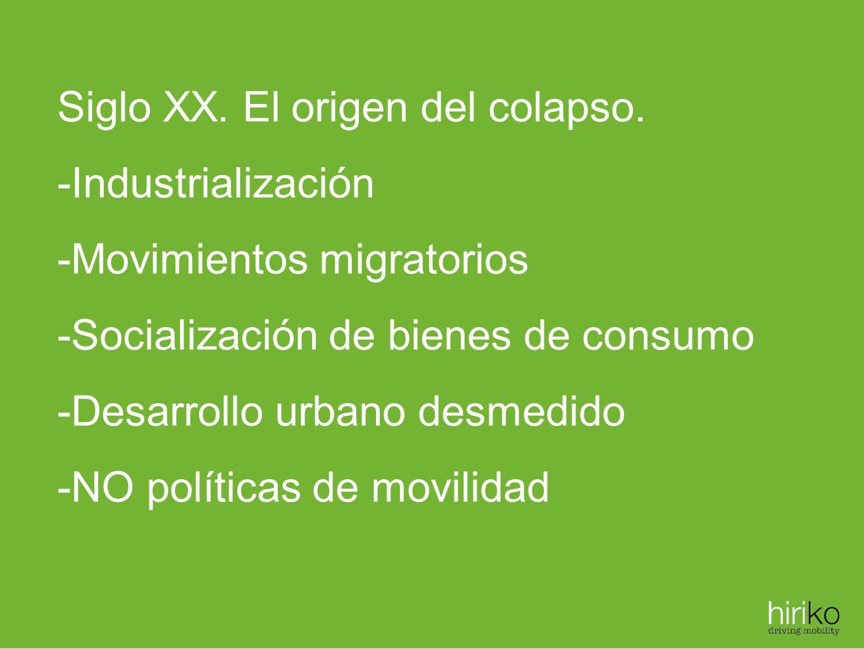 Siglo XX. El origen del colapso.