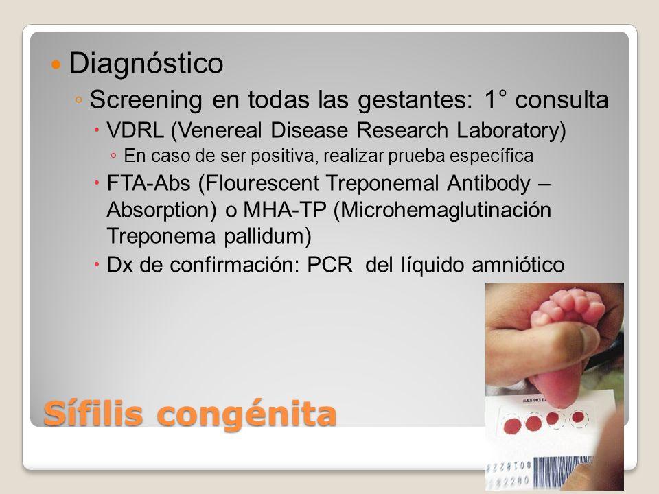 Sífilis congénita Diagnóstico