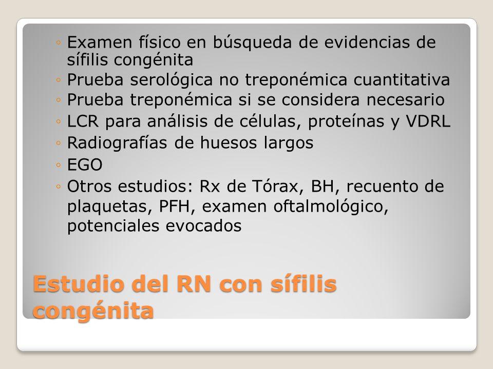 Estudio del RN con sífilis congénita