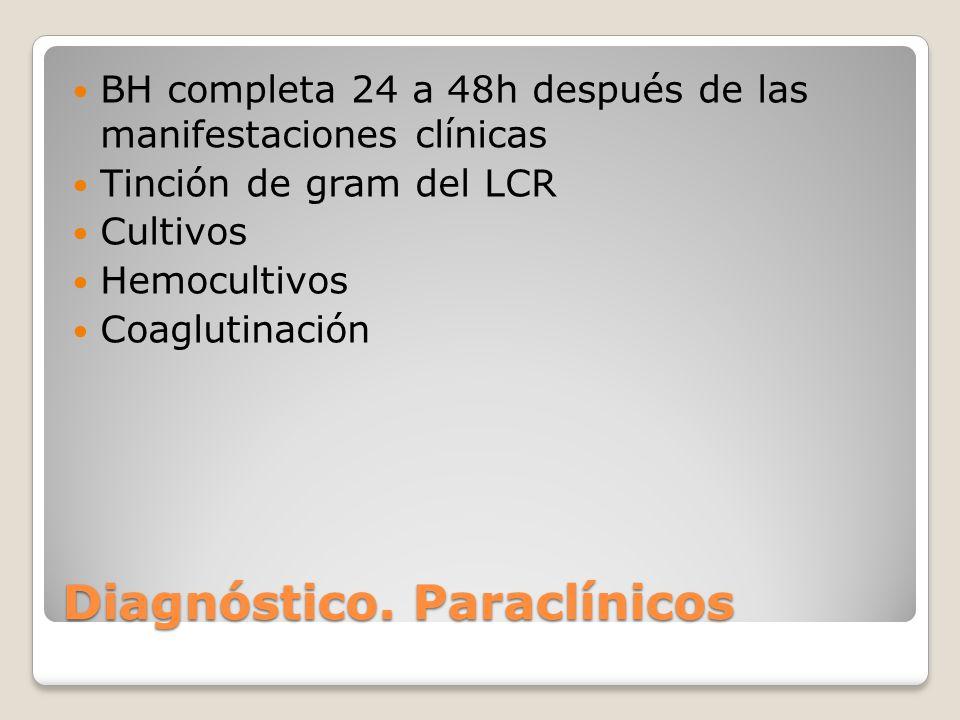 Diagnóstico. Paraclínicos