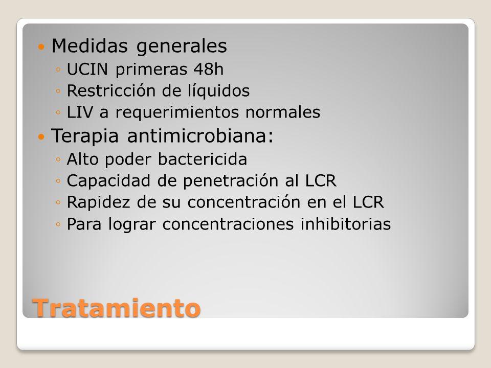 Tratamiento Medidas generales Terapia antimicrobiana:
