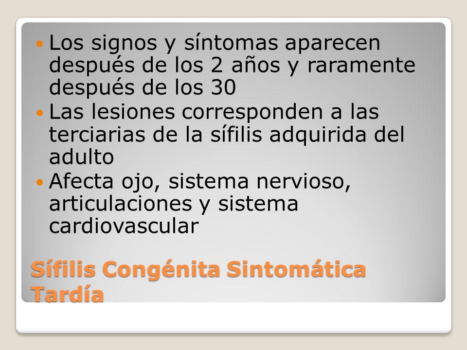 Sífilis Congénita Sintomática Tardía