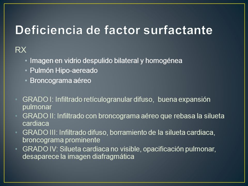 Deficiencia de factor surfactante