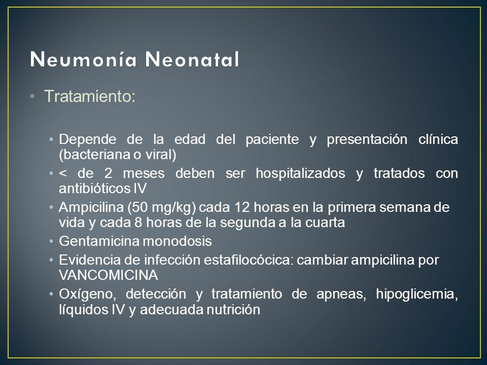 Neumonía Neonatal Tratamiento: