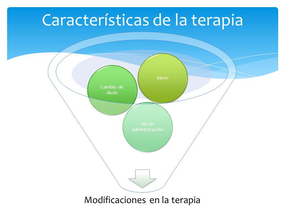 Características de la terapia
