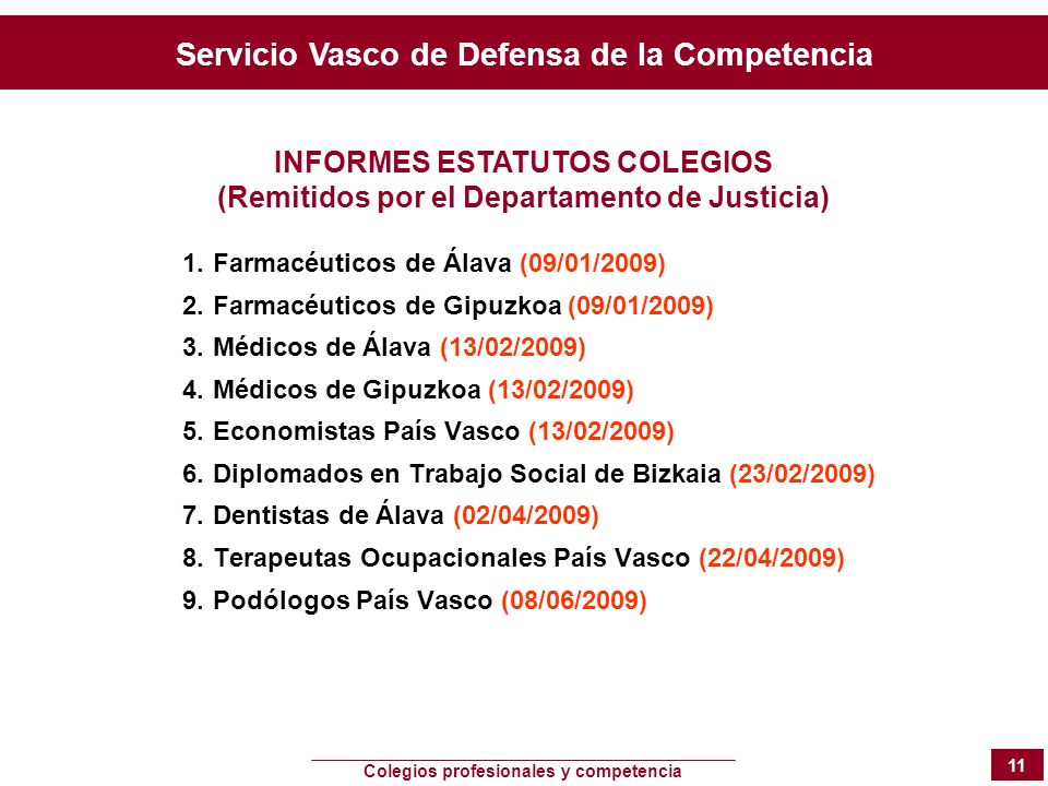 INFORMES ESTATUTOS COLEGIOS
