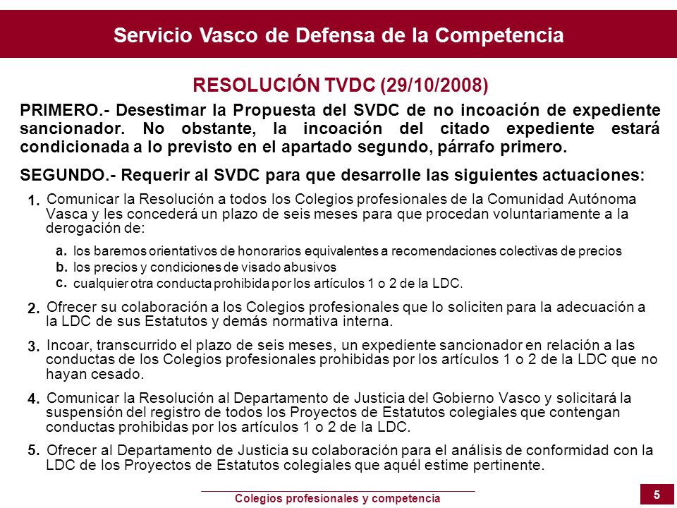RESOLUCIÓN TVDC (29/10/2008)