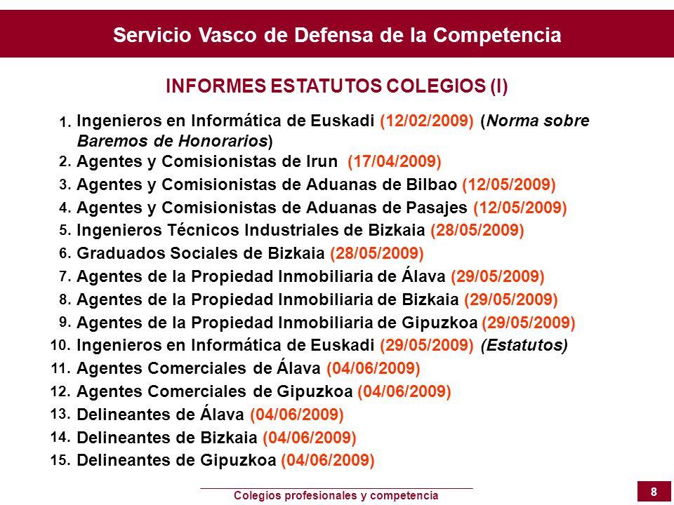 INFORMES ESTATUTOS COLEGIOS (I)
