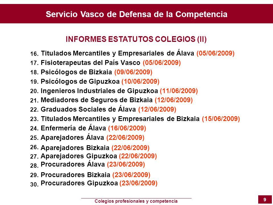 INFORMES ESTATUTOS COLEGIOS (II)