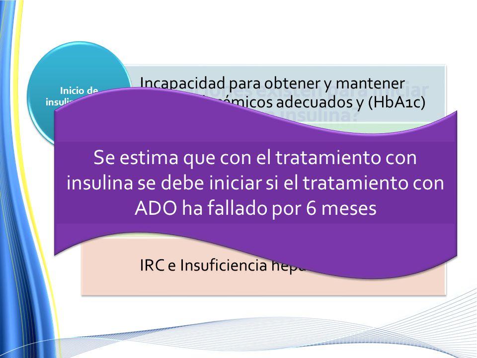 Inicio de insulinoterapia