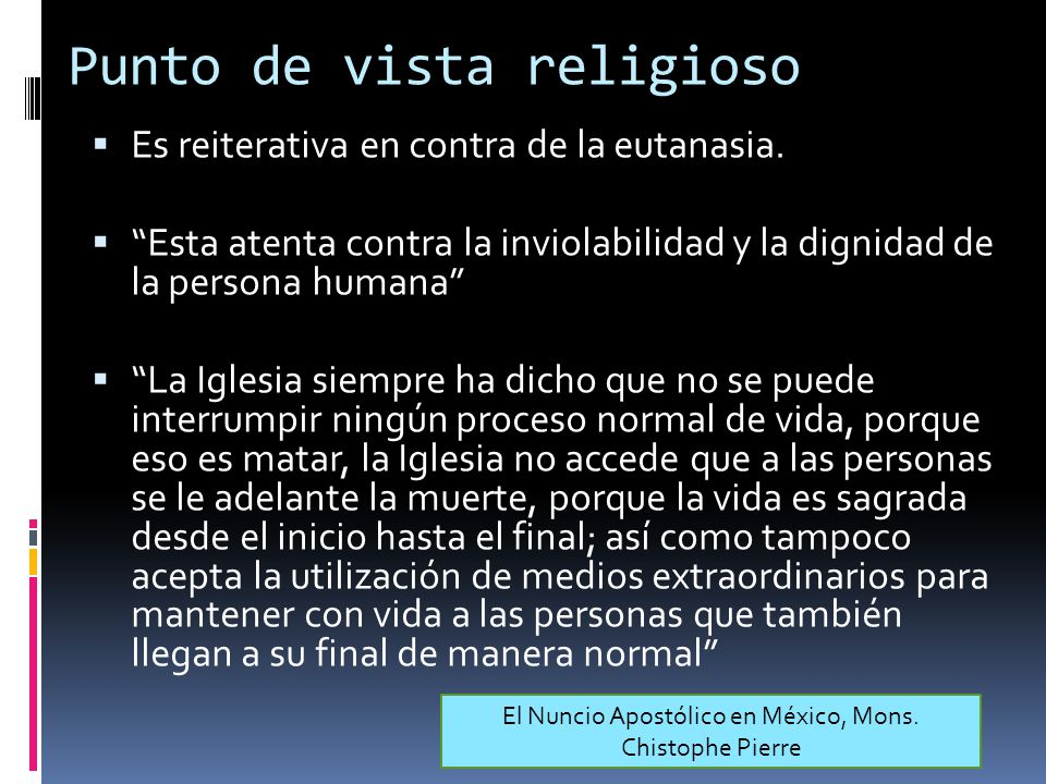 Punto de vista religioso