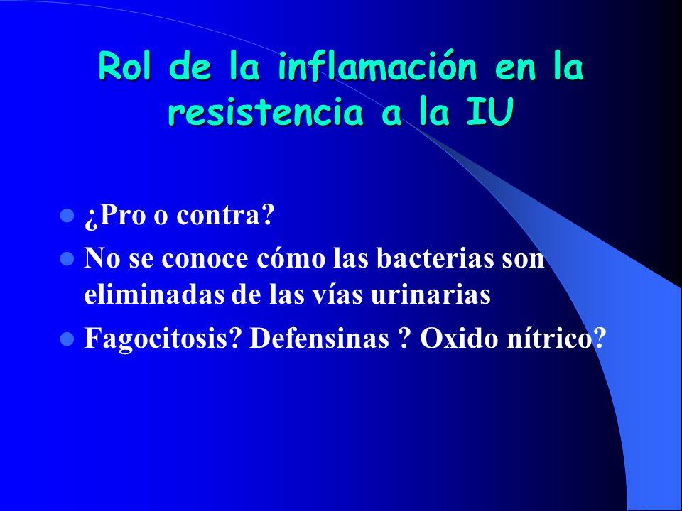 Rol de la inflamación en la resistencia a la IU