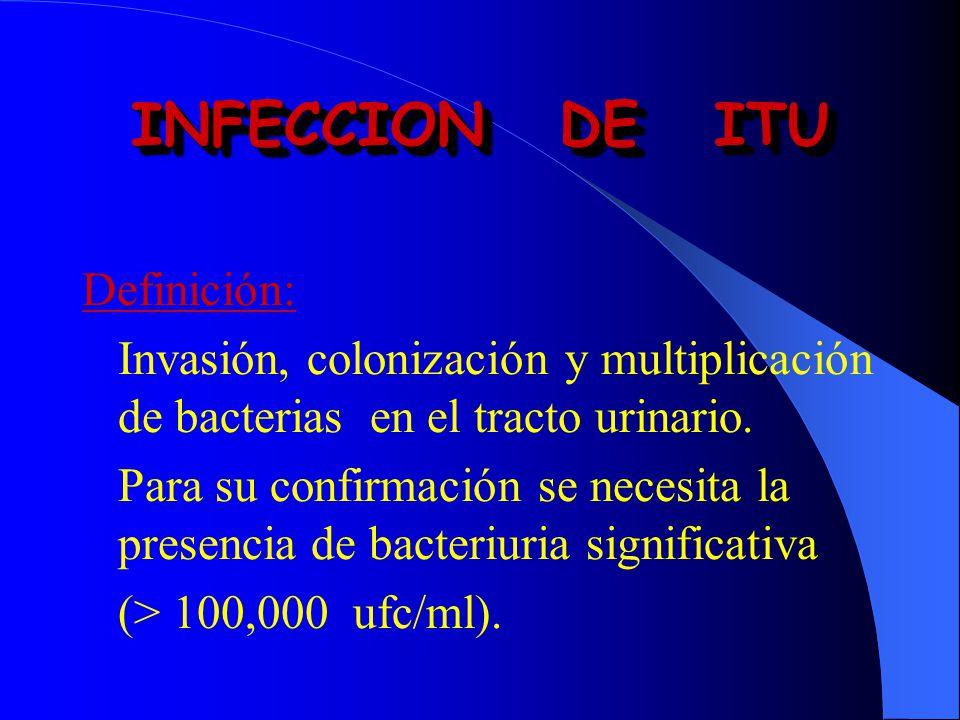 INFECCION DE ITU Definición: