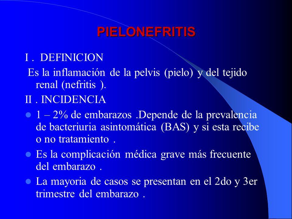 PIELONEFRITIS I . DEFINICION