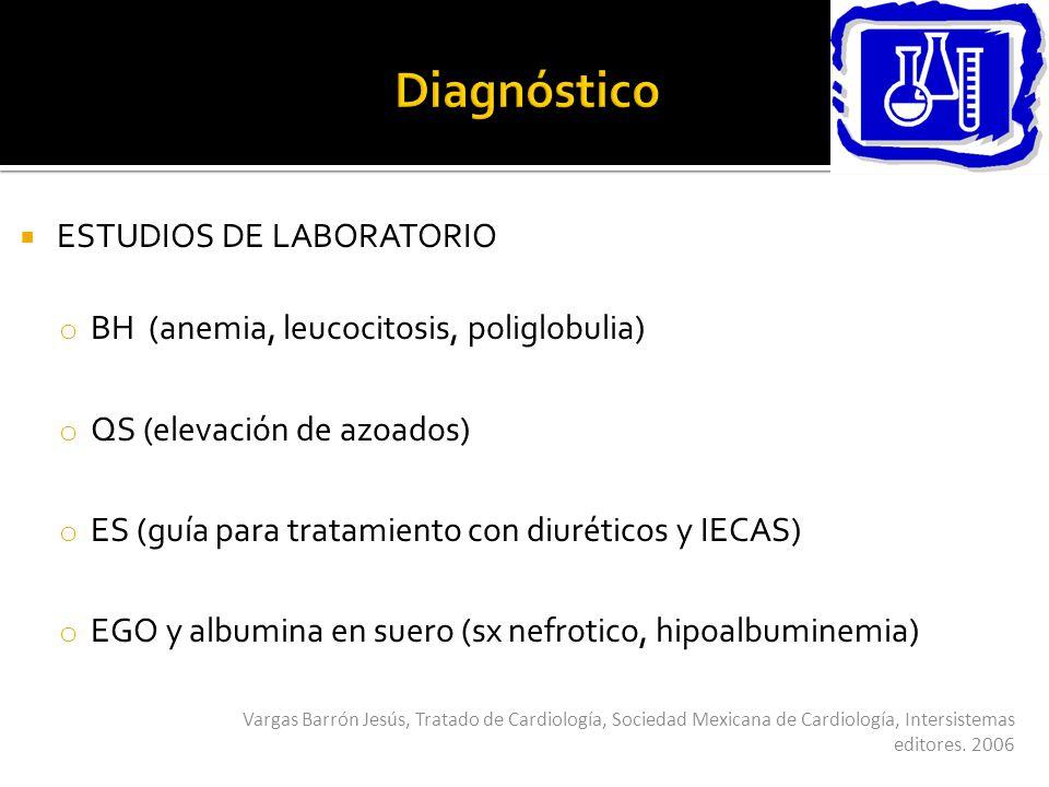 Diagnóstico ESTUDIOS DE LABORATORIO