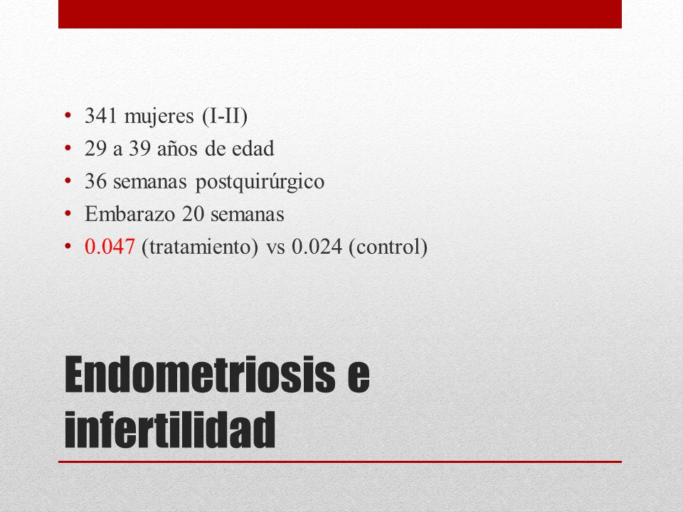 Endometriosis e infertilidad