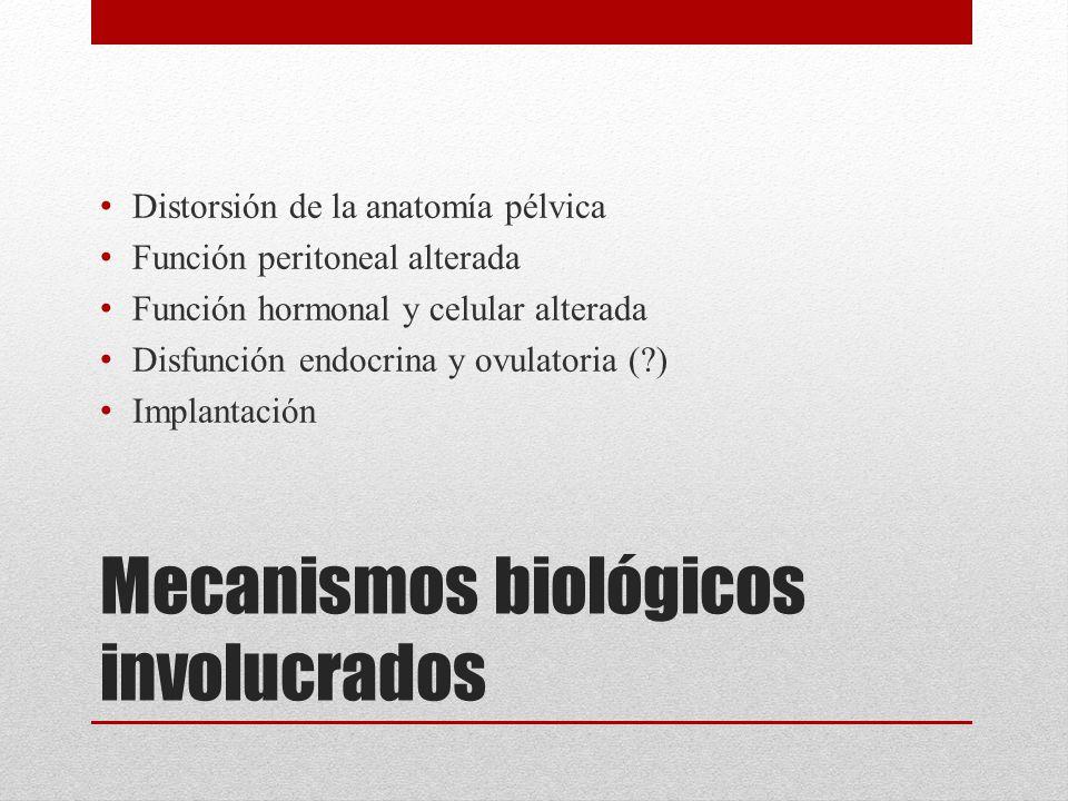Mecanismos biológicos involucrados