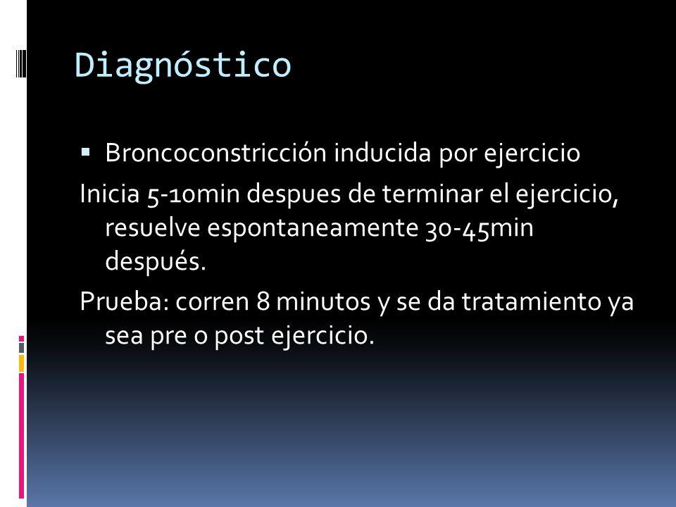 Diagnóstico Broncoconstricción inducida por ejercicio