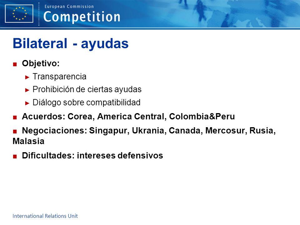 Bilateral - ayudas Objetivo: