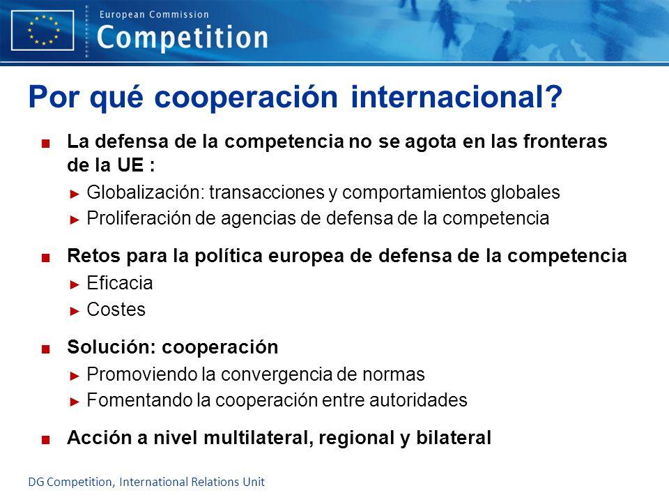 Por qué cooperación internacional