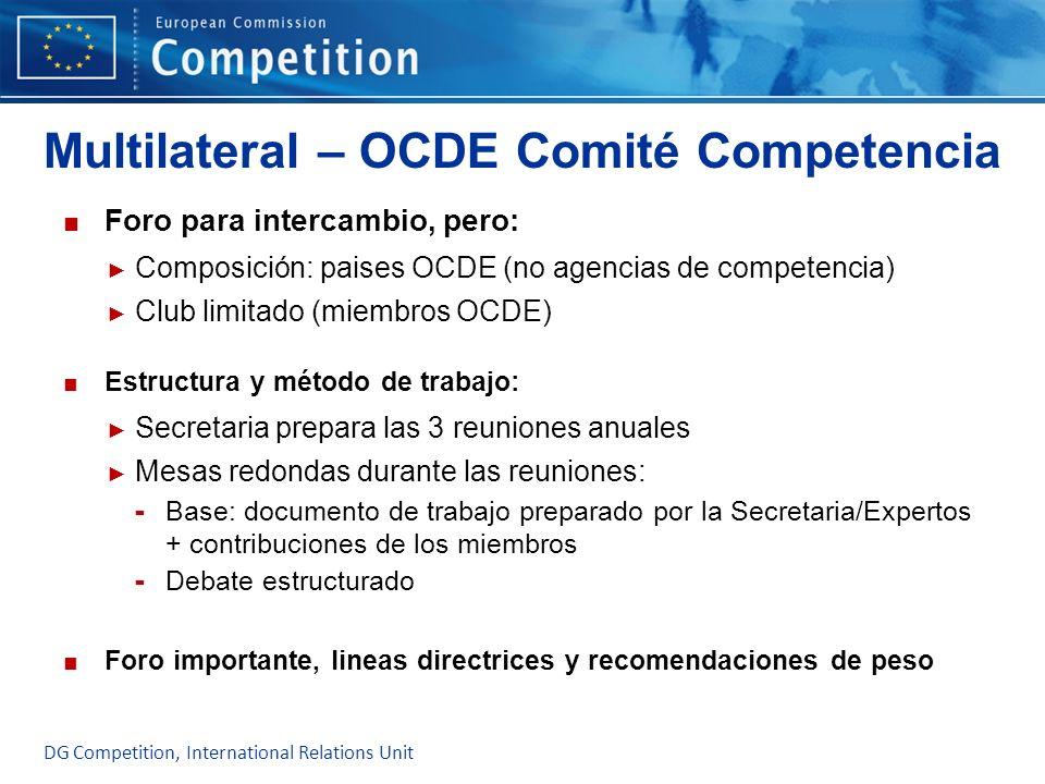 Multilateral – OCDE Comité Competencia