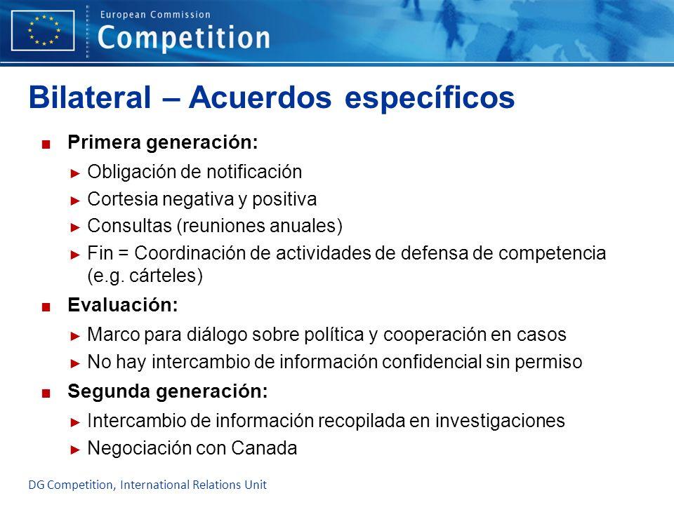 Bilateral – Acuerdos específicos