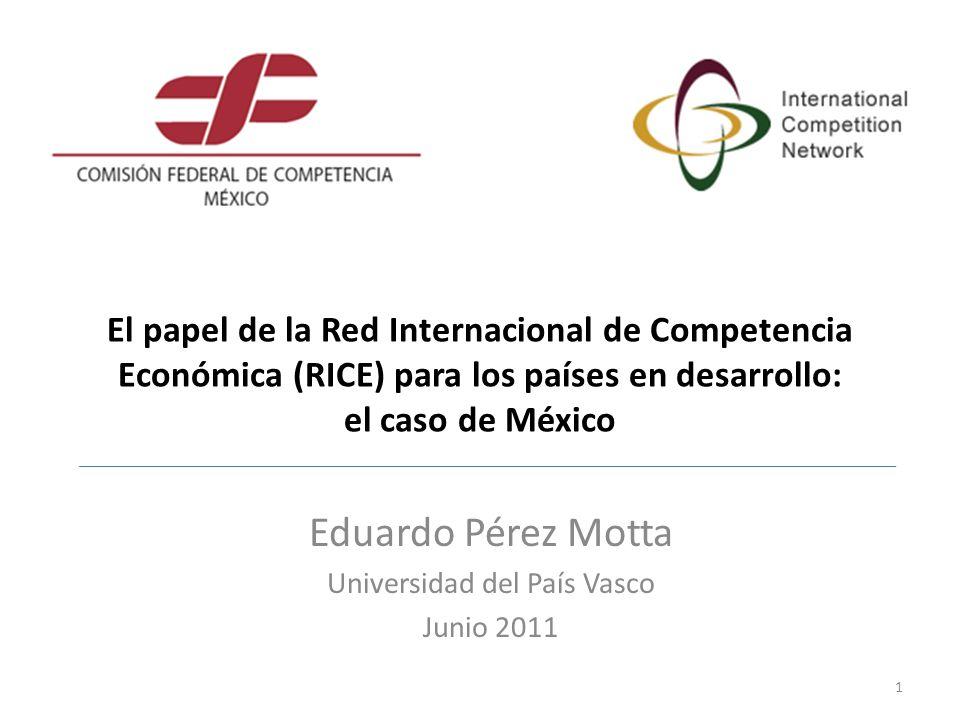 Eduardo Pérez Motta Universidad del País Vasco Junio 2011