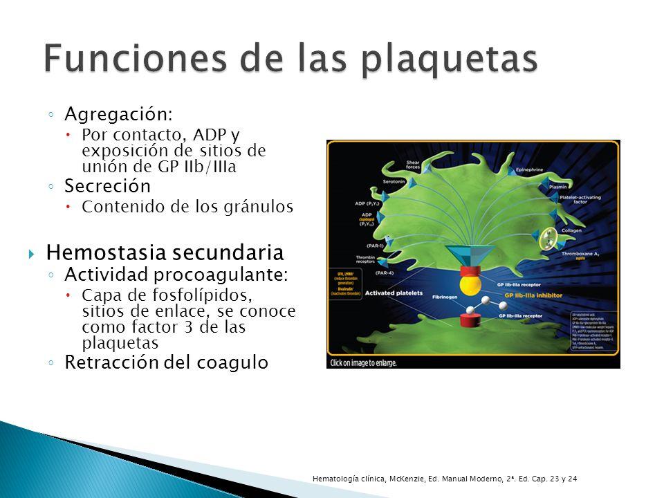 Funciones de las plaquetas