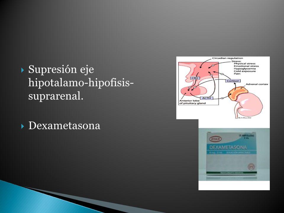 Supresión eje hipotalamo-hipofisis- suprarenal.