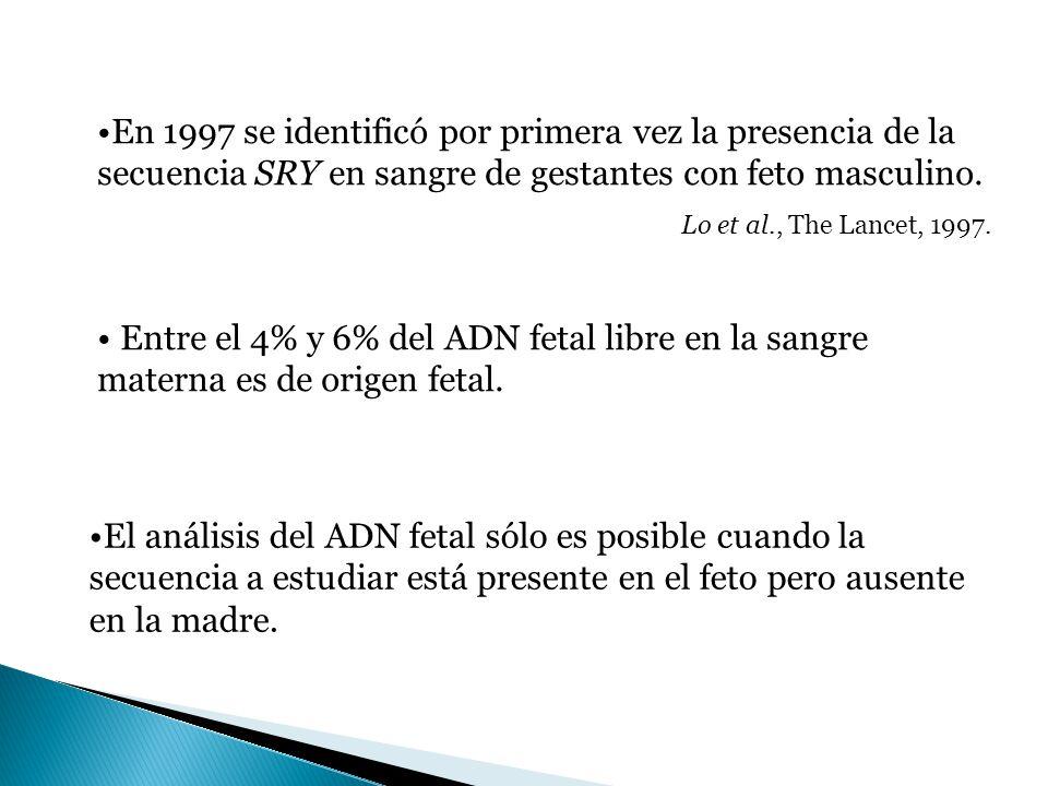 En 1997 se identificó por primera vez la presencia de la secuencia SRY en sangre de gestantes con feto masculino.