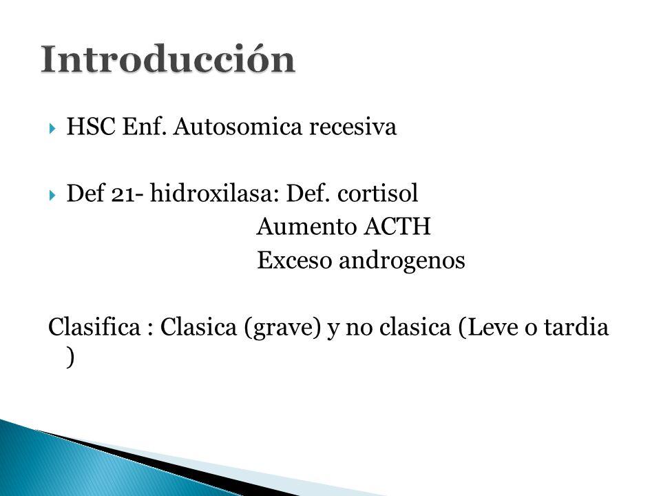 Introducción HSC Enf. Autosomica recesiva