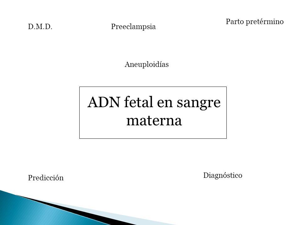 ADN fetal en sangre materna
