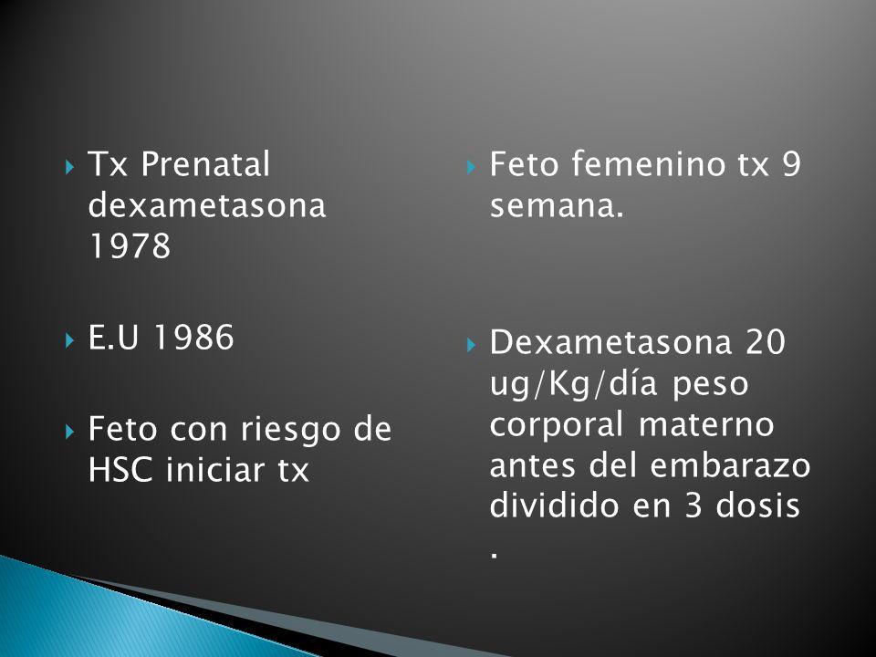 Tx Prenatal dexametasona 1978