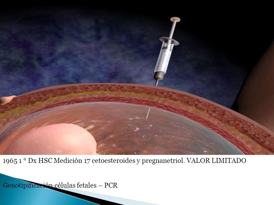 1965 1 ° Dx HSC Medición 17 cetoesteroides y pregnanetriol