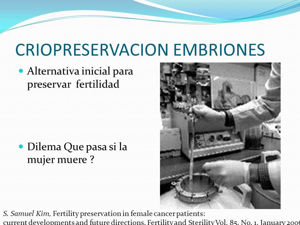 CRIOPRESERVACION EMBRIONES