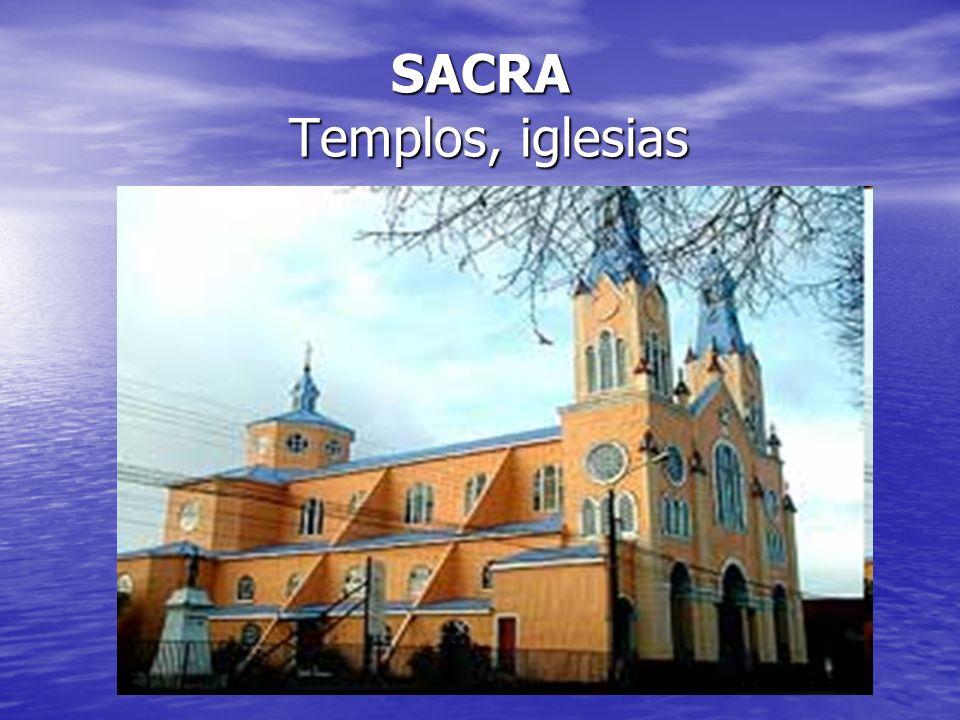 SACRA Templos, iglesias