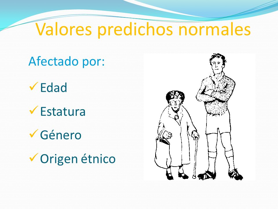 Valores predichos normales