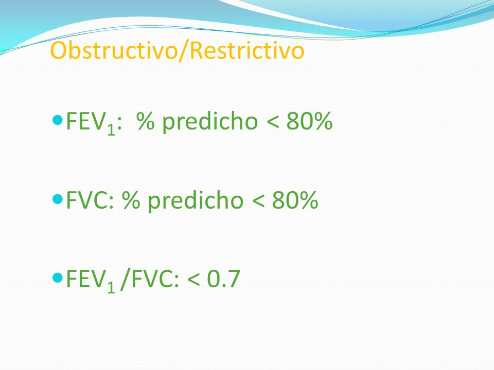Obstructivo/Restrictivo