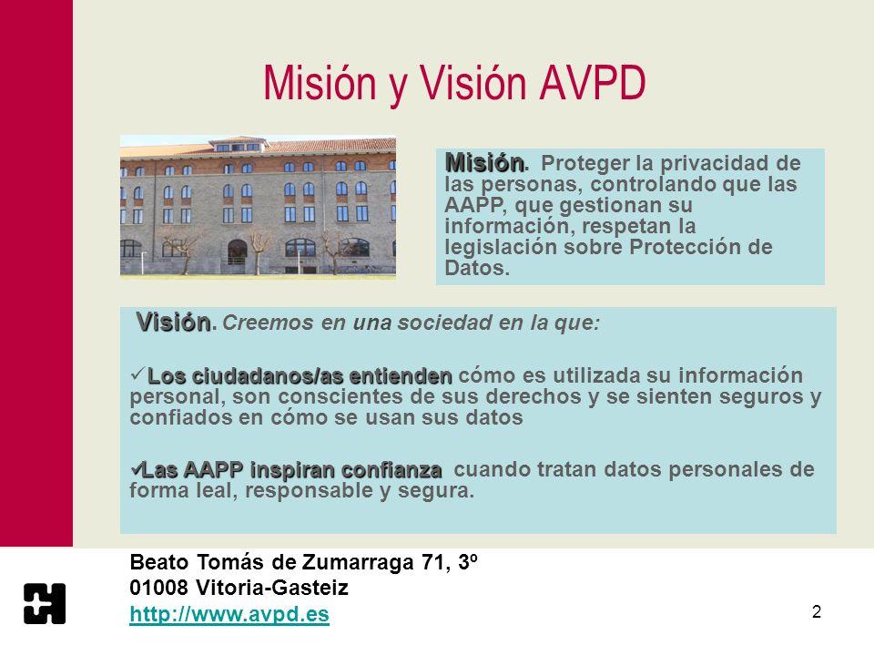 Misión y Visión AVPD
