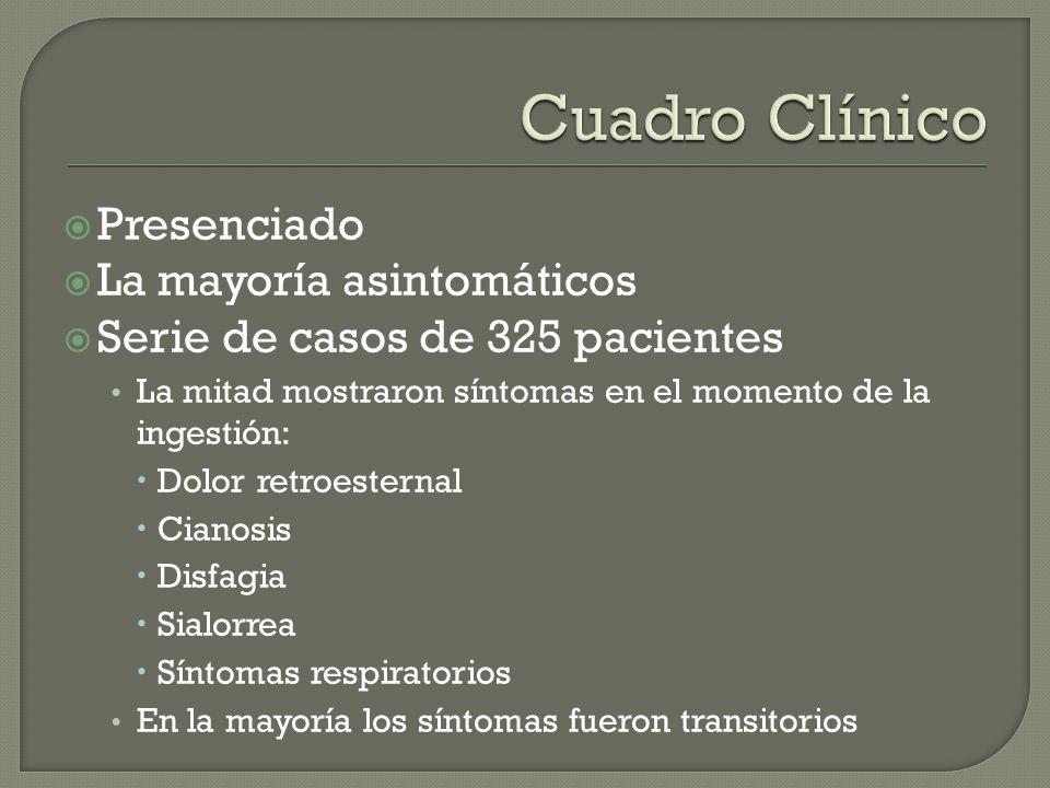 Cuadro Clínico Presenciado La mayoría asintomáticos