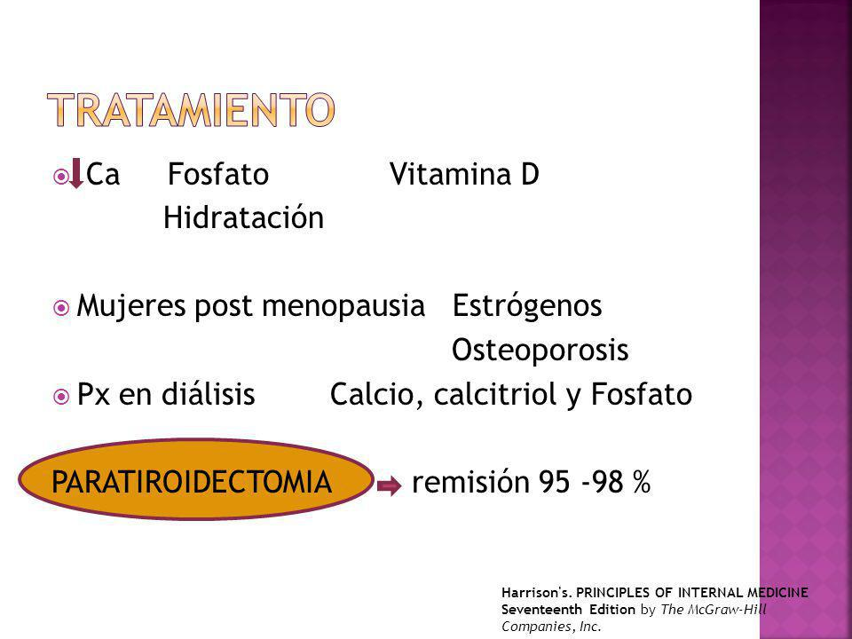 tratamiento Ca Fosfato Vitamina D Hidratación