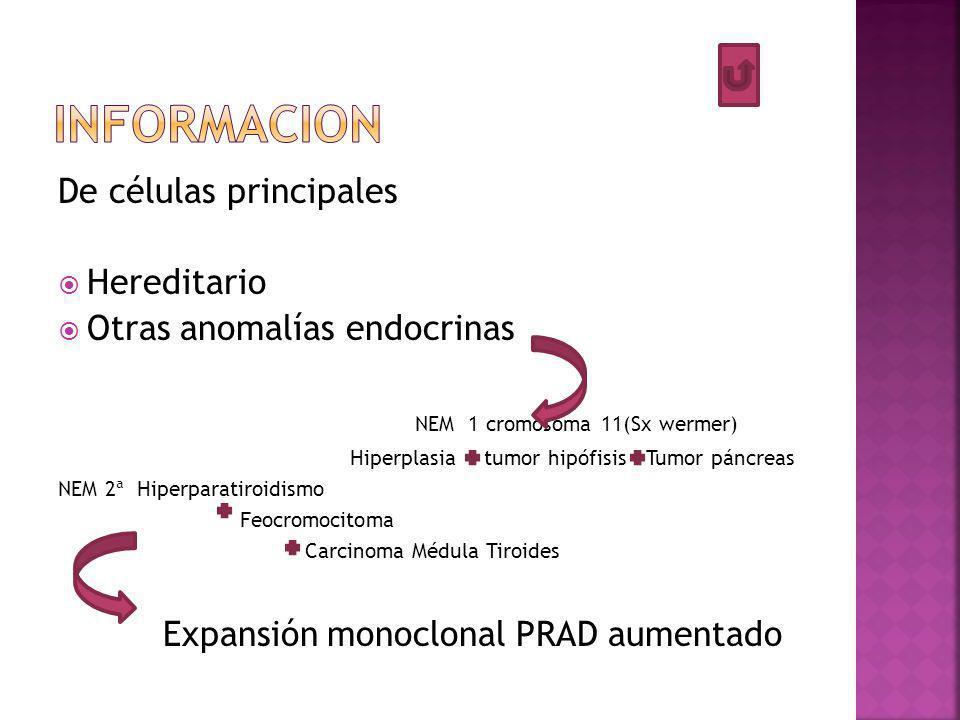 informacion De células principales Hereditario