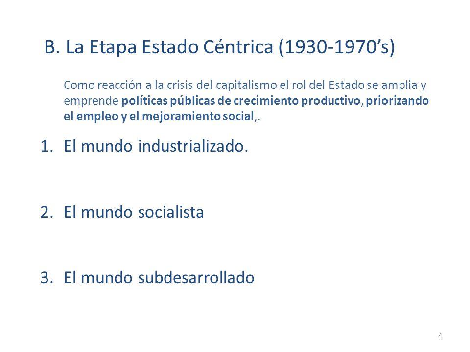 B. La Etapa Estado Céntrica (1930-1970's)