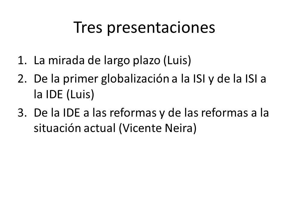 Tres presentaciones La mirada de largo plazo (Luis)