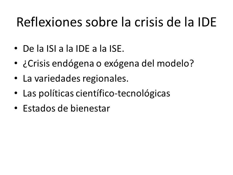 Reflexiones sobre la crisis de la IDE