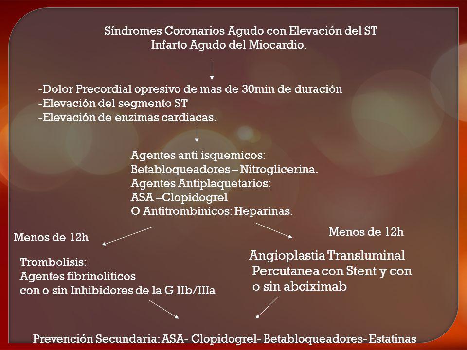 Angioplastia Transluminal Percutanea con Stent y con o sin abciximab