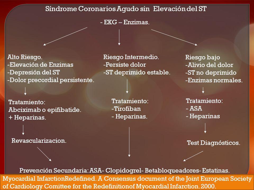 Síndrome Coronarios Agudo sin Elevación del ST