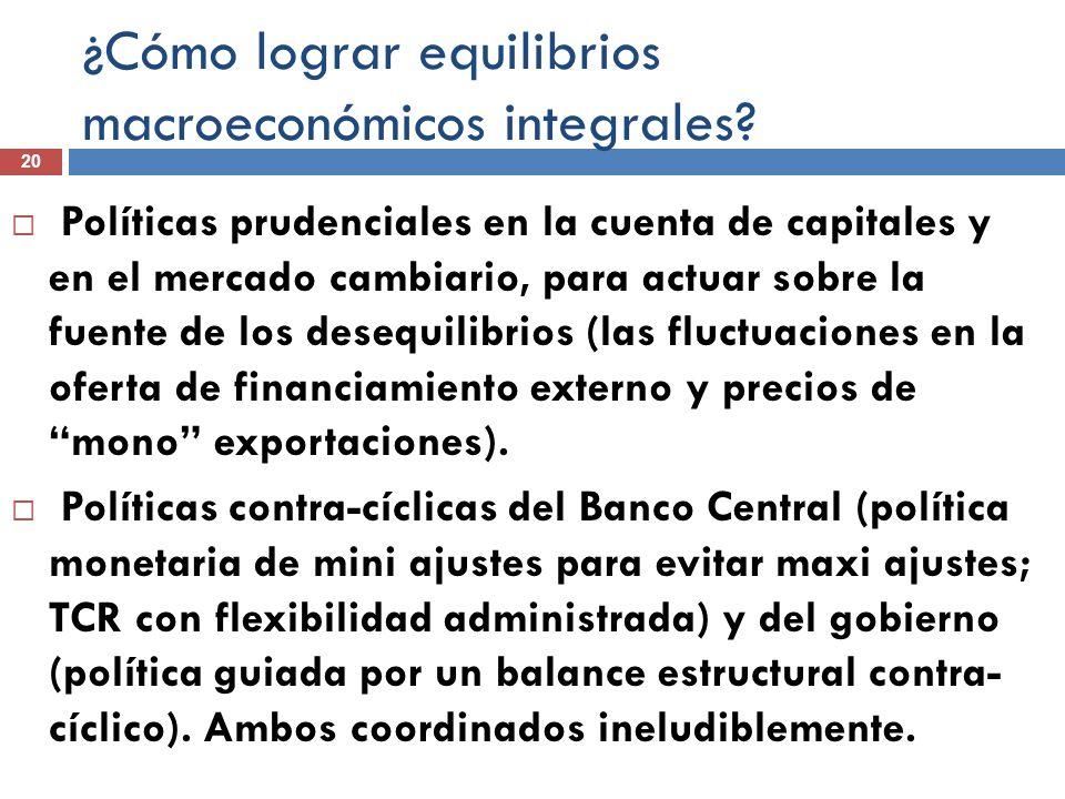 ¿Cómo lograr equilibrios macroeconómicos integrales