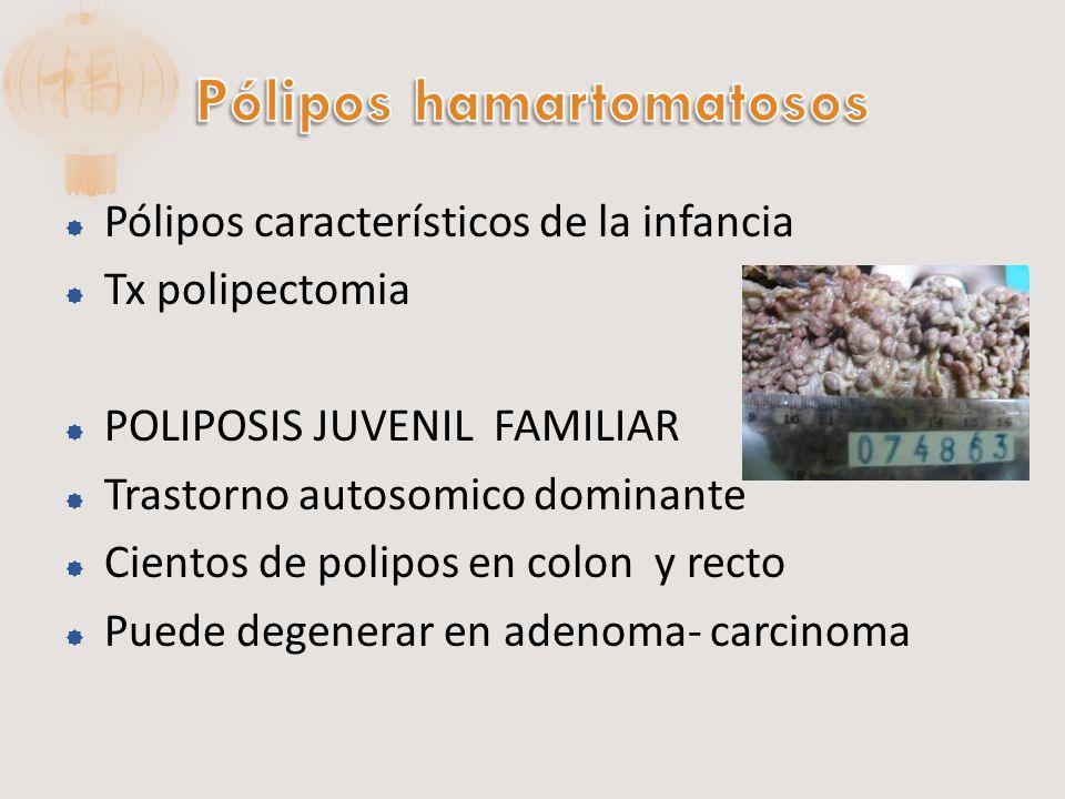 Pólipos hamartomatosos